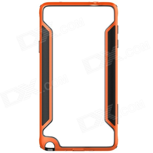 NILLKIN Protective PC + TPU Bumper Frame Case for Samsung Galaxy Note 4 N9100 - Orange protective tpu   pc bumper frame for lg