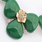 Fashionable Flower Pendant Resin + Ainc Alloy Necklace - Green