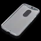 Protective Matte TPU Back Case for MOTO X+1 - Translucent White