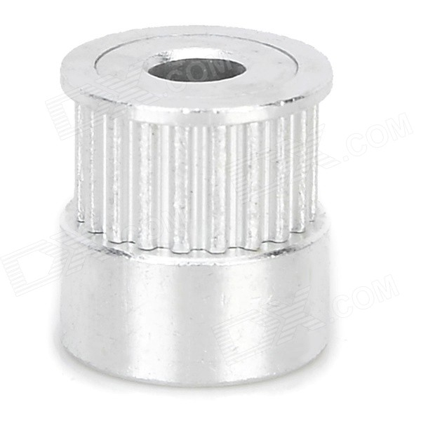 3D Printer Aluminum 20-Teeth Timing Belt Pulley for MXL - Silver cnc parts aluminum pulley timing pulleys