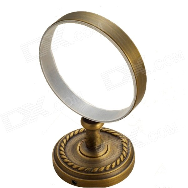 F9201 Retro Brass Toilet Brush - Antique Brass crystal and jade golden brass ceramic toilet brush holder wall mounted brass bathroom holder shelf
