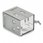 Iron Square USB B-type Female Connectors - Silver (5 PCS)