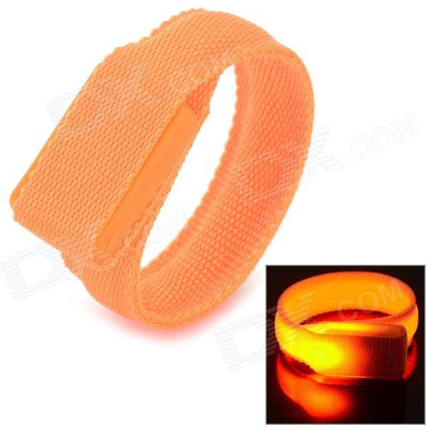 SD-65 Fashionable Velcro 3-Mode Orange Light LED Sports Wrist Band - Orange (2 x CR2016)