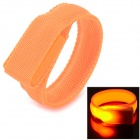 SD-65 Modische Klettverschluss 3-Mode orange Licht LED Sport-Handgelenk-Band - Orange (2 x CR2016)