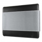 Mallper MP-BC08 Brief Case Canvas + PU Leather Carrying Bag for IPAD - Black + Gray