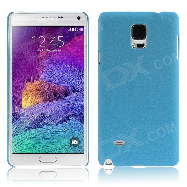 ENKAY Quick Sand Style Protective Plastic Back Case for Samsung Galaxy Note 4 N9100 - Blue enkay quick sand style protective plastic back case for samsung galaxy note 4 n9100 blown