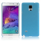 ENKAY Quick Sand Style Protective Plastic Back Case for Samsung Galaxy Note 4 N9100 - Blue