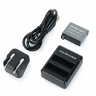 1160mAh Li-ion Battery + Dual-USB Battery Charger + EU Plug Charger Set for GoPro Hero 4 - Black
