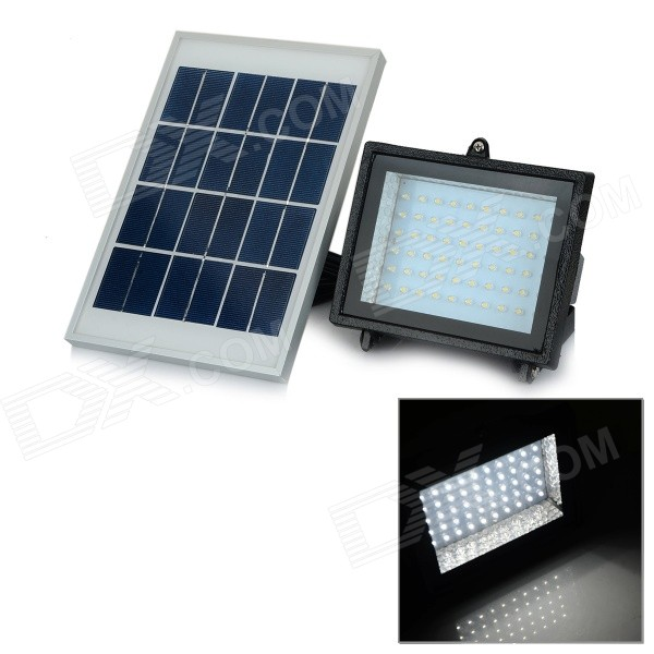 YJ-2338W 3W 350lm 6000K 60-LED White Light Solar Powered Spotlight - White (3.7V)