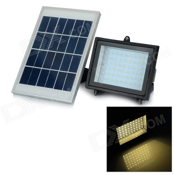 где купить YJ-2338WW 3W 350lm 3500K 60-LED Warm White Light Solar Powered Spotlight - White + Black (3.7V) по лучшей цене