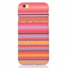"Colored Striped Pattern Stylish Plastic Back Case for IPHONE 6 4.7"" - Deep Pink + Red"
