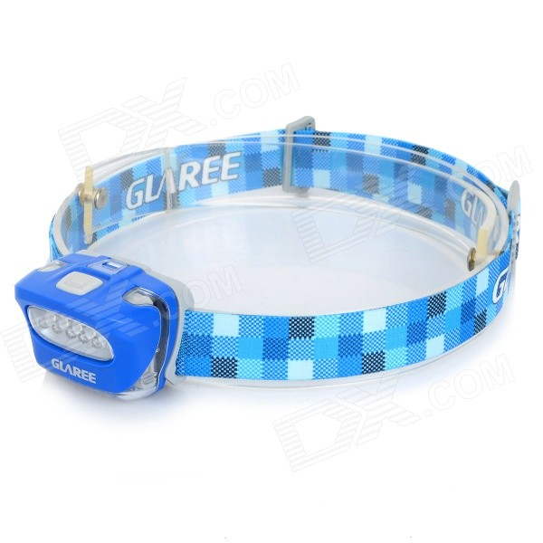GLAREE L50PRO 5-LED 4-Mode White Light Outdoor Headlamp - Blue + White (3 x AAA)