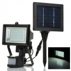 Solar Powered 3W 6000K White Light 60-SMD 3528 LED Montion Sensor Garden / Landscape Flood Lamp