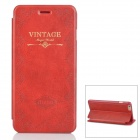 Retro Style Suojaava PU Leather Case w / jalusta iPhone 6 PLUS - Tummanpunainen