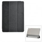 Buy Protective Sparkling Silk Grain PU Leather Smart Case PC Back, Stand IPAD AIR 2 - Black