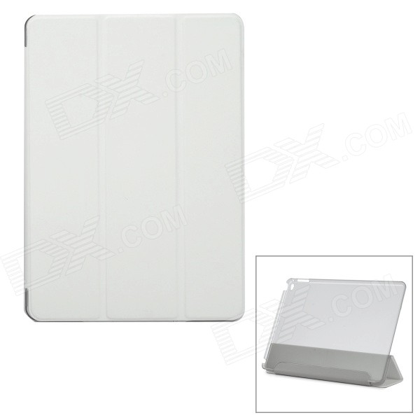 Protective Ultra-Slim Smooth Smart PU Case w/ PC Back, Stand for IPAD AIR 2 - White