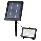Solar Powered 3W 350LM 3500K Warm White Light 60-LED Garden / Lawn Flood Lamp - Black