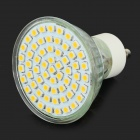 GU10 3W 250LM 2800K 60-SMD 3528 LED Warm White Lâmpadas Light - Branco + Prata (AC 110V / 4 PCS)