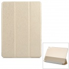 Protective Sparkling Silk Grain PU Leather Smart Case w/ PC Back, Stand for IPAD AIR 2 - Light Gold