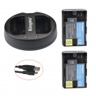 Kingma LP-E6 Battery + Dual Slot Charger for Canon EOS 5D Mark III/6D