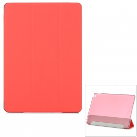 Protective Ultra-Slim Smooth Smart PU Case w/ PC Back, Stand for IPAD AIR 2 - Red