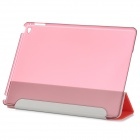 Beschermende Ultra-Slim Smooth Smart PU Case w / PC Back, Stand voor iPad AIR 2 - Rood