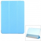Protective Sparkling Silk Grain PU Leather Smart Case w/ PC Back, Stand for IPAD AIR 2 - Blue