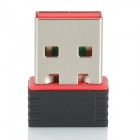 Mini USB 2.0 150Mbps Wireless Network Adapter - Black + Red