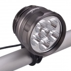 SingFire SF-831 6-LED 3 modes 4200lm Cool White Ultra Brightness Bike Light - Gris (4 x 18650)