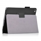Protective PU Leather Flip Open Case w/ Stand for IPAD AIR 2 - Black