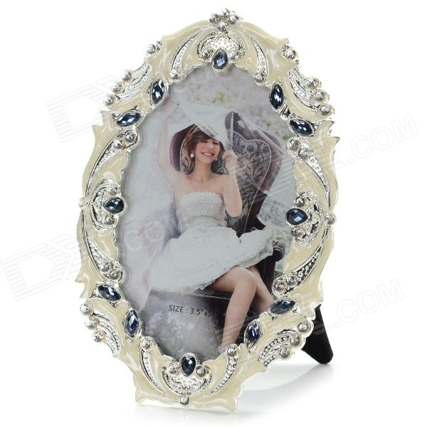 7220TB Luxurious Rhinestone Studded Alloy Photo Frame - White + Black велосипед bulls nandi street 27 5 2016