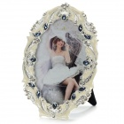 7220TB Luxuriöse Strass Nieten Alloy Photo Frame - White + Black