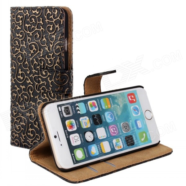 Stylish Protective Flip-Open PU Leather + PC Case w/ Stand for IPHONE 6 PLUS 5.5