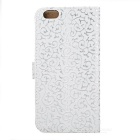 Stylish Protective Flip-Open PU Leather + PC Case w/ Stand for IPHONE 6 PLUS - White
