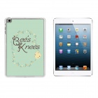 """Bee's Knees"" Pattern Ultra-Slim Protective Plastic Back Case for IPAD MINI 1 / 2 / 3 - Green"