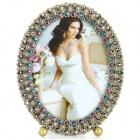 European Style Luxurious Rhinestone Studded Zinc Alloy Photo Frame - Antique Bronze + Brownness