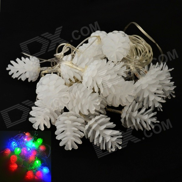Holiday 4W 20-LED RGB Pineal String Light for Christmas Decoration - White (AC110~220V)