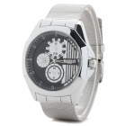 Men's Fashion Zinc Alloy Band Analog Quartz Watch - Silver (1 x 377)
