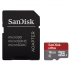 SanDisk 16GB Ultra Class 10 Micro SDHC up to 48MB/s with Adapter (SDSDQUAN-016G-G4A) Newest Version