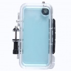 AL01 Waterproof PC Sports Camera Housing Case w/ Built-in Wide-angle Glass Lens for IPHONE 5 / 5S