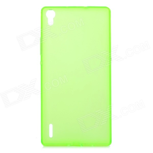 Protective Ultra-Slim TPU Back Case Cover for Huawei P7 - Translucent Green