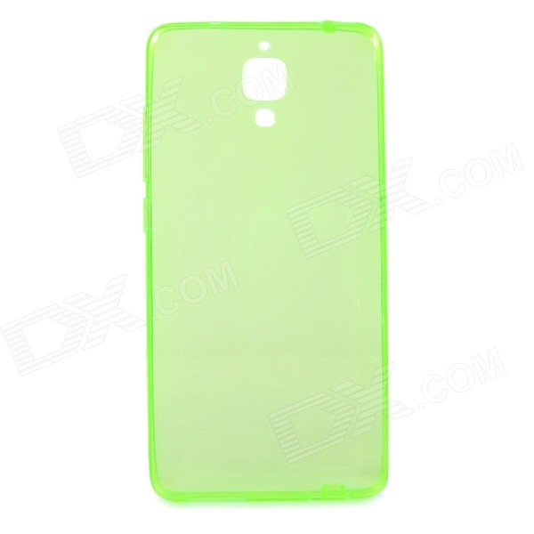 Protective TPU Back Case Cover for Xiaomi MI4 - Translucent Green
