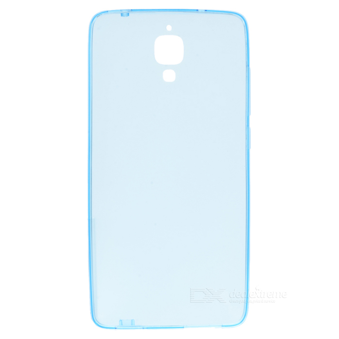 Protective TPU Back Case Cover for Xiaomi MI4 - Translucent Blue for ipad mini4 cover high quality soft tpu rubber back case for ipad mini 4 silicone back cover semi transparent case shell skin