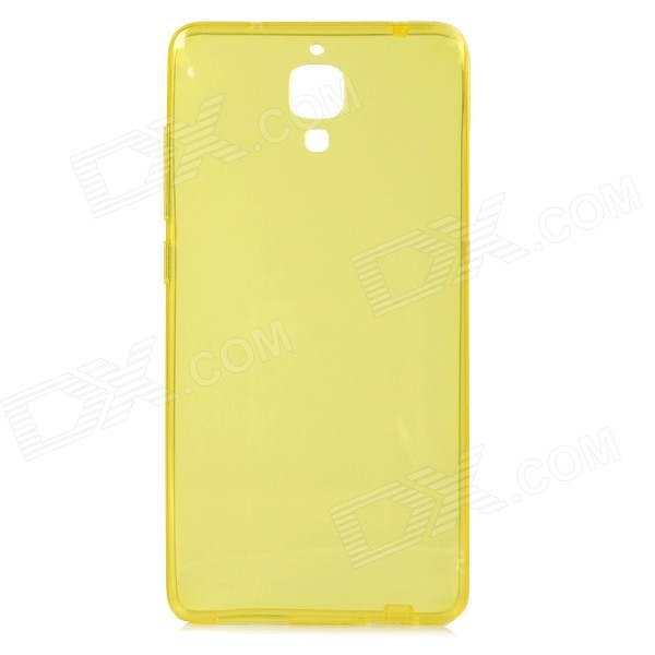 Protective TPU Back Case Cover for Xiaomi MI4 - Translucent Yellow