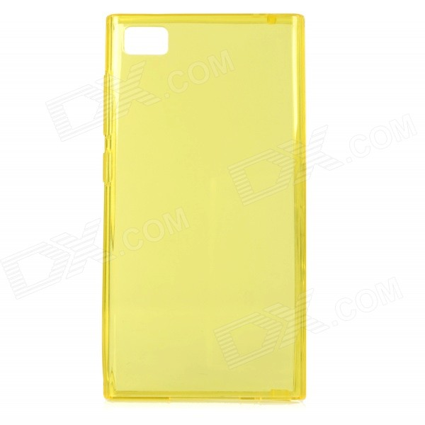 Protective TPU Back Case for Xiaomi Mi3 - Translucent Yellow гаджет светодиодная лампа xiaomi yeelight smart led bulb color silver gpx4002rt