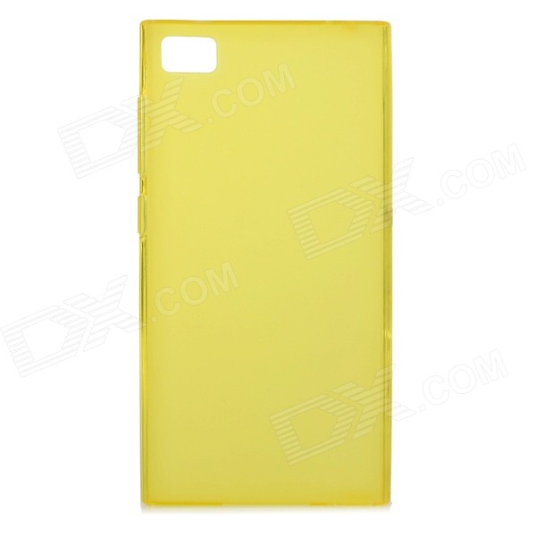 Protective TPU Back Case for Xiaomi Mi3 - Translucent Yellow