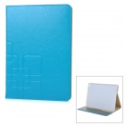 Protective Flip-Open PU + PC Case Cover w/ Auto Sleep / Card Slots / Stand for IPAD AIR 2 - Blue