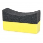 Multi-functional Home / Car Use EVA Sponge Cleaning Washing Tool - Black + Yellow