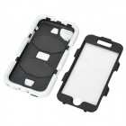"Protetora de silicone + PC volta caso Armor for IPHONE 6 4.7 ""- Black + White"