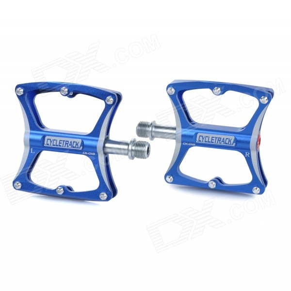CYCLETRACK CK018 Replacement Magnesium Alloy Bicycle Pedal - Blue (Pair)